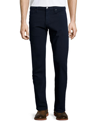 DENIM L'Homme Straight-Leg Twill Jeans, Navy