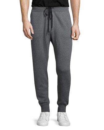Drawstring Jogger Sweatpants, Gray