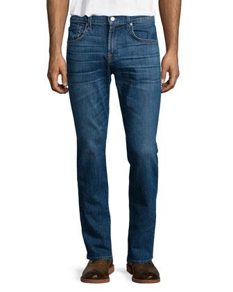 Luxe Performance: Straight-Leg Shoreline Jeans, Indigo