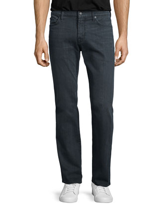 Luxe Performance: Standard-Fit Vacancy Jeans, Gray
