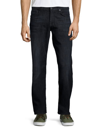 Luxe Performance: Carson Obsidian Denim Jeans, Black
