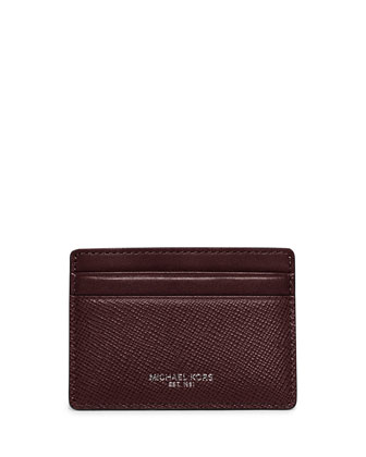 Harrison Cross-Grain Leather Card Case