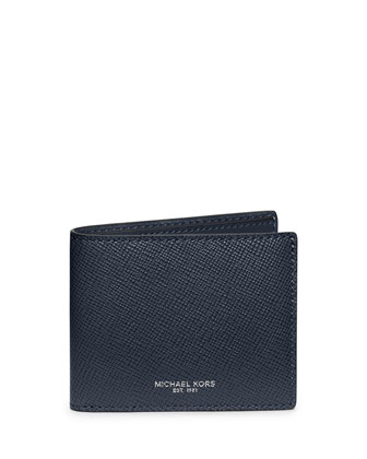 Harrison Cross-Grain Leather Wallet