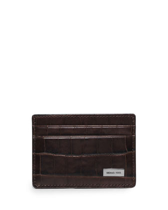 Bryant Crocodile-Embossed Card Case