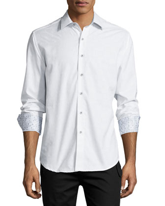 Albert Bridge Camo-Print Sport Coat & Cullen Long-Sleeve Jacquard Sport Shirt