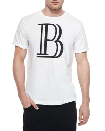Large-B Logo Graphic Tee, White