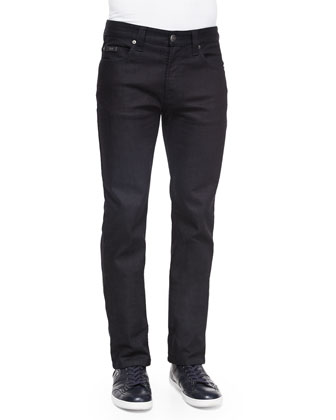 Five-Pocket Slim-Fit Stretch Jeans, Navy