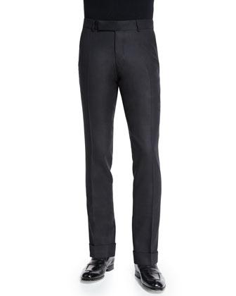 Buckley Base Twill Melange Trousers, Black
