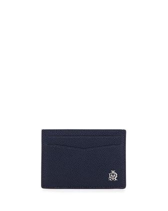 Bourdon Leather Card Case, Blue