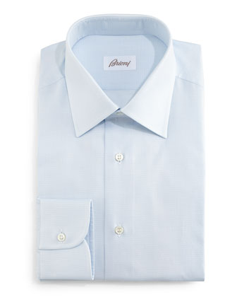 Tonal Textured Dress Shirt, Light Blue