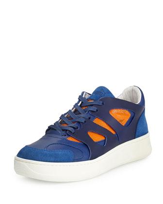 McQ Low-Move Sneaker, Blue/Orange