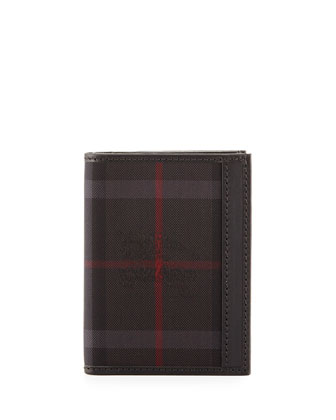 Elton Horseferry Check Wallet, Charcoal