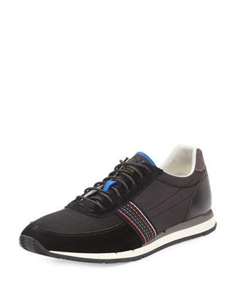 Moogg Suede Trainer Sneaker, Black
