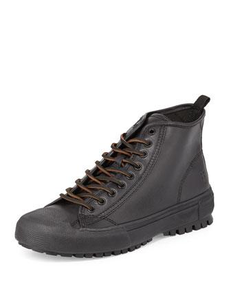 Ryan Lugged-Sole High-Top Sneaker, Black