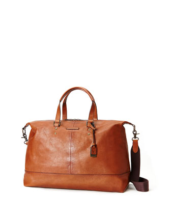 Ben Artisan Leather Duffel Bag, Whiskey