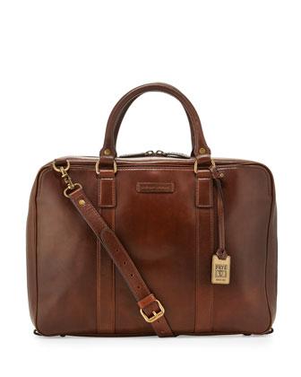 David Leather Briefcase, Dark Brown