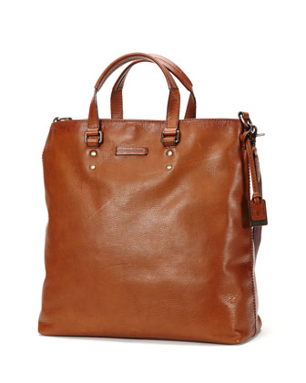 Ben Artisan Leather Tote Bag, Dark Brown
