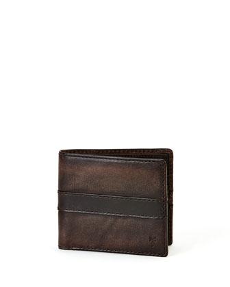 Oliver Leather Bi-Fold Wallet, Gray