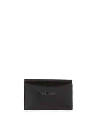 Leather Vertical Card Case, Black
