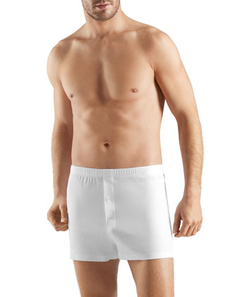 Sea Island Cotton Boxers, White
