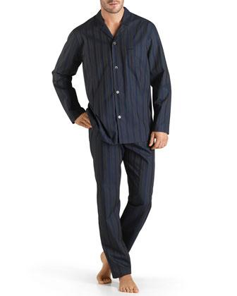 Jules Striped Pajama Set, Blue