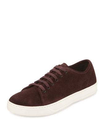 Austin Suede Low-Top Sneaker, Burgundy