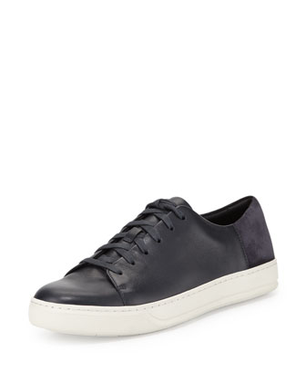 Andrew Leather & Suede Low-Top Sneaker, Navy