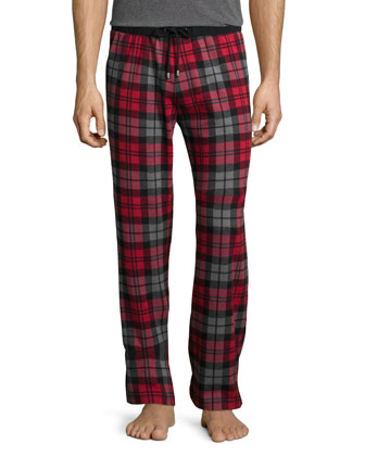 Thomas Scarlet Plaid Lounge Pants, Red