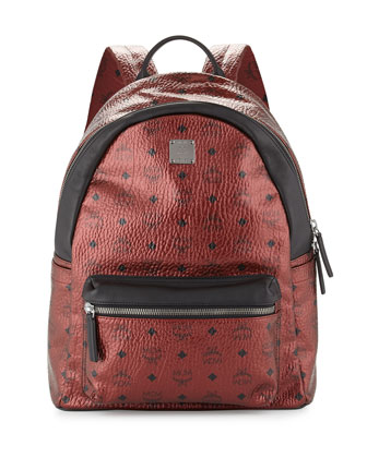 Stark No Stud Coated Canvas Medium Backpack, Scooter Red