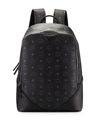 Duke Visetos Canvas Backpack, Black