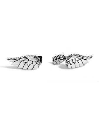 Silver Eagle Wing Cuff Links