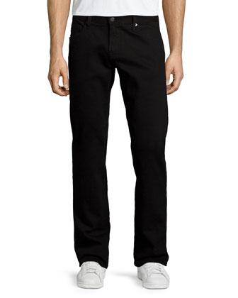 Graduate Blackbird Straight-Leg Jeans, Black