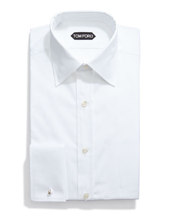 Basic French Cuff Dress Shirt, White