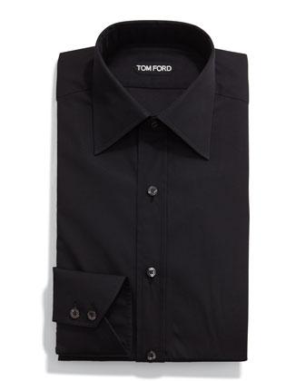 Classic Solid Dress Shirt, Black