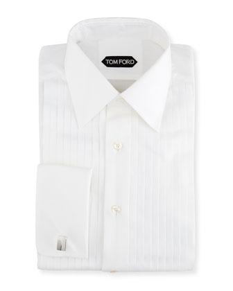 Classic-Collar Evening Dress Shirt, White