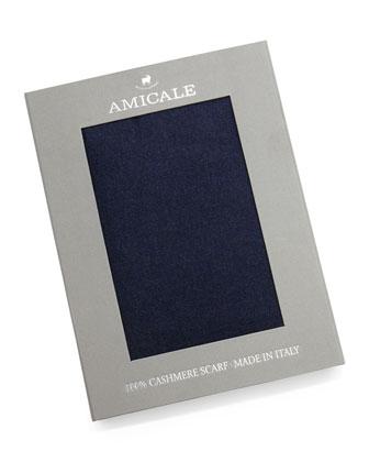 Cashmere Scarf Gift Box, Dark Gray