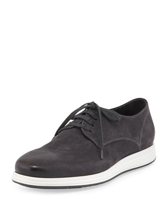 Yuri Nubuck Leather Oxford, Midnight