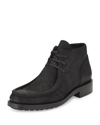 Crawford Leather Moccasin Boot, Black