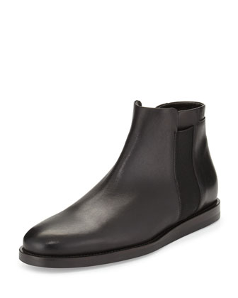 Hayes Gored Leather Boot, Black