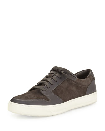 Alec Suede & Leather Sneaker, Graphite