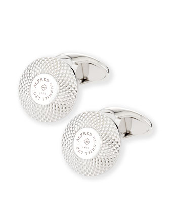 Sterling Silver Disc Cuff Links