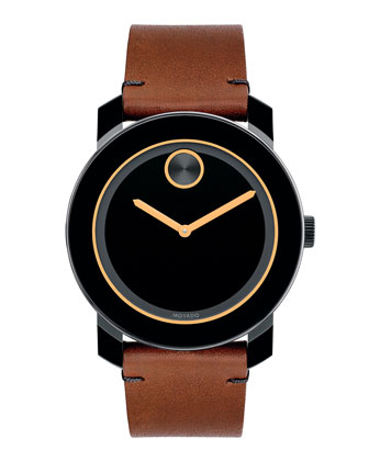 42mm Bold Watch, Black/Rust