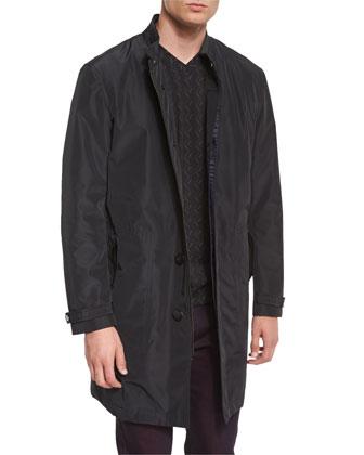Guru Button-Down Jacket, Black Metallic