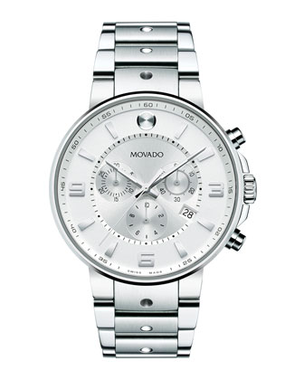 SE Pilot Chronograph Watch, Silver
