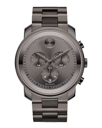 44mm Bold Chronograph Watch, Gray