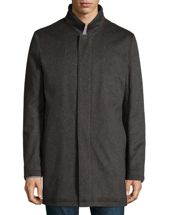 Solferino Cashmere Coat, Charcoal