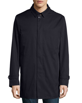 Single-Breasted Trench Coat, Navy