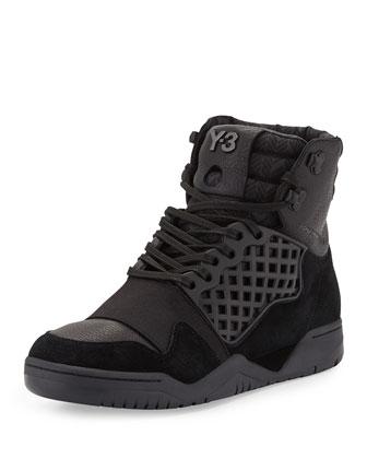 Held Enforcer High-Top Sneaker, Black
