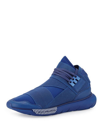 Qasa High-Top Sneaker, Blue/White