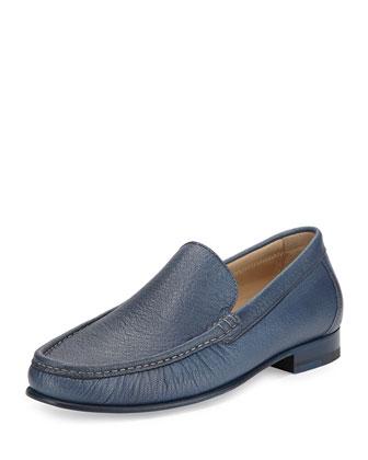 Leather Slip-On Loafer, Navy